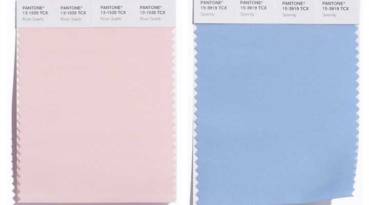 Rose Quartz e Serenity: i colori del 2016 per Pantone