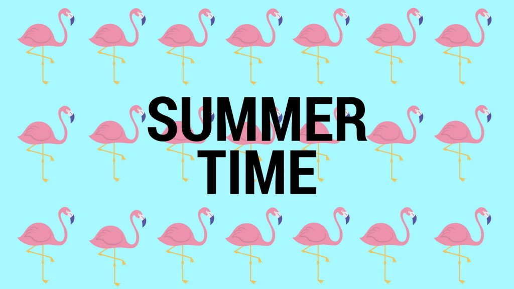 Summer Time 2017 with flamingo